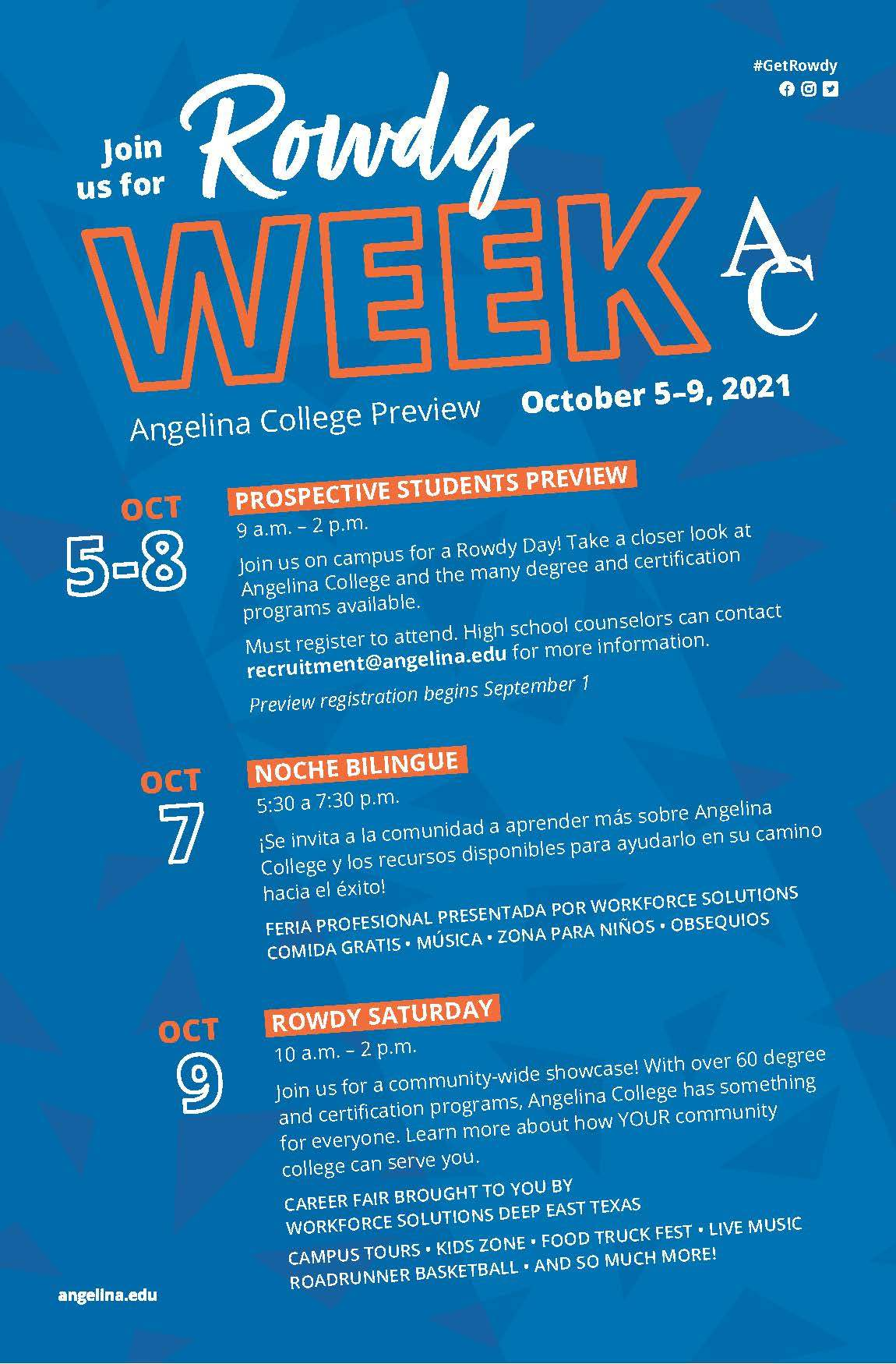 Angelina College Rowdy Week Career Fair 2021